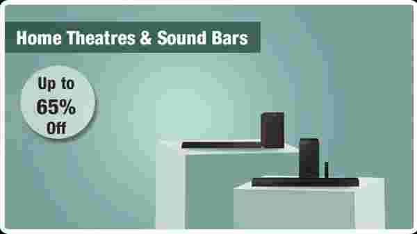 Up to 65% off home theaters and sound bars