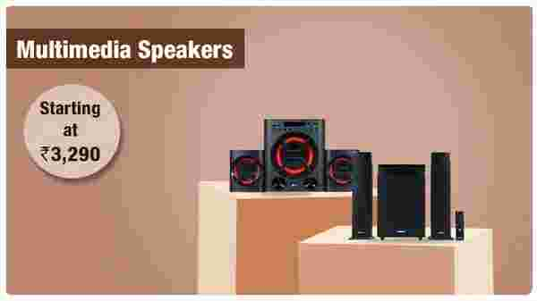 Multimedia speakers from Rs.  3,290