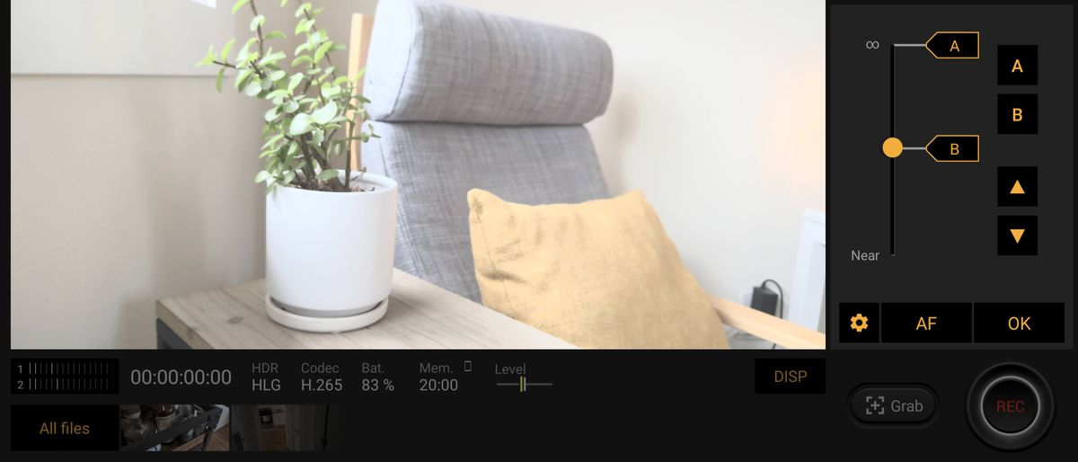 Sony's Cinematography Pro app offers plenty of manual control and the ability to set points for pull focus.