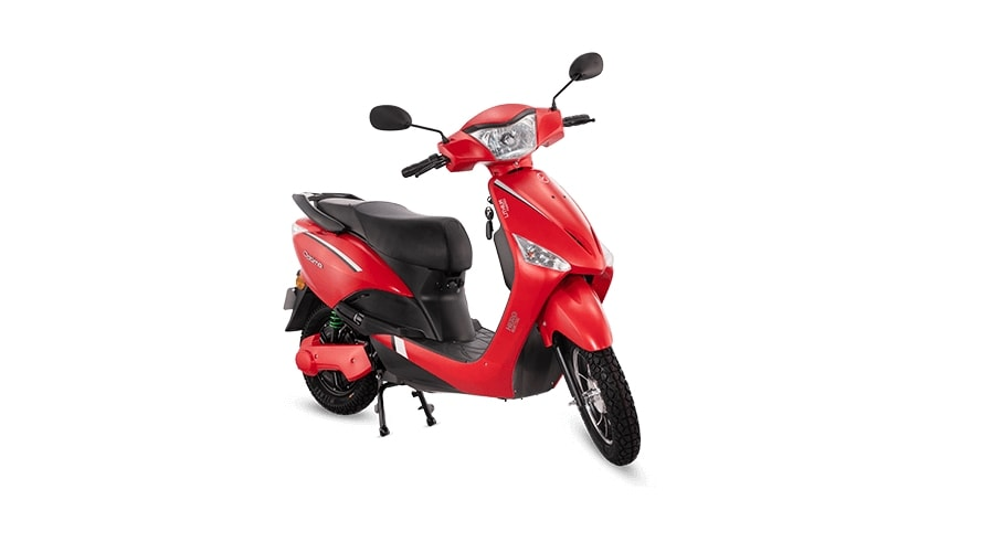 The dual-battery version of the Maharashtra, Hero Optima e-scooter is more affordable than the single-battery version.  Photo: Hero Electric