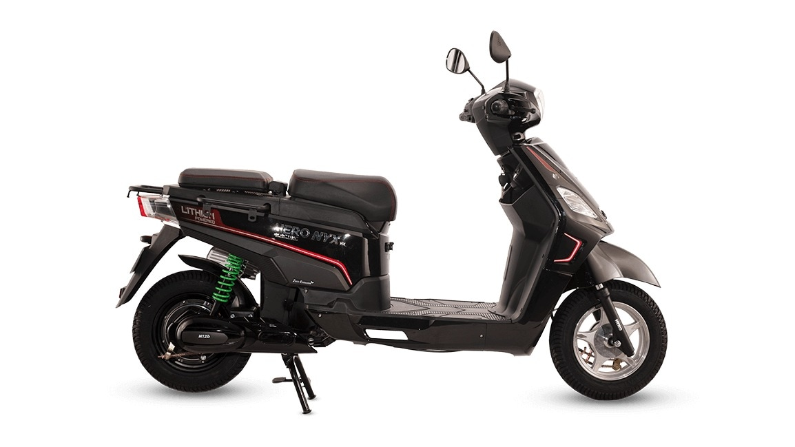 The cake-powered Hero Electric Nyx E5 ER (with an alleged distance of 165 km) costs only Rs 38,000 in Maharashtra.  Photo: Hero Electric