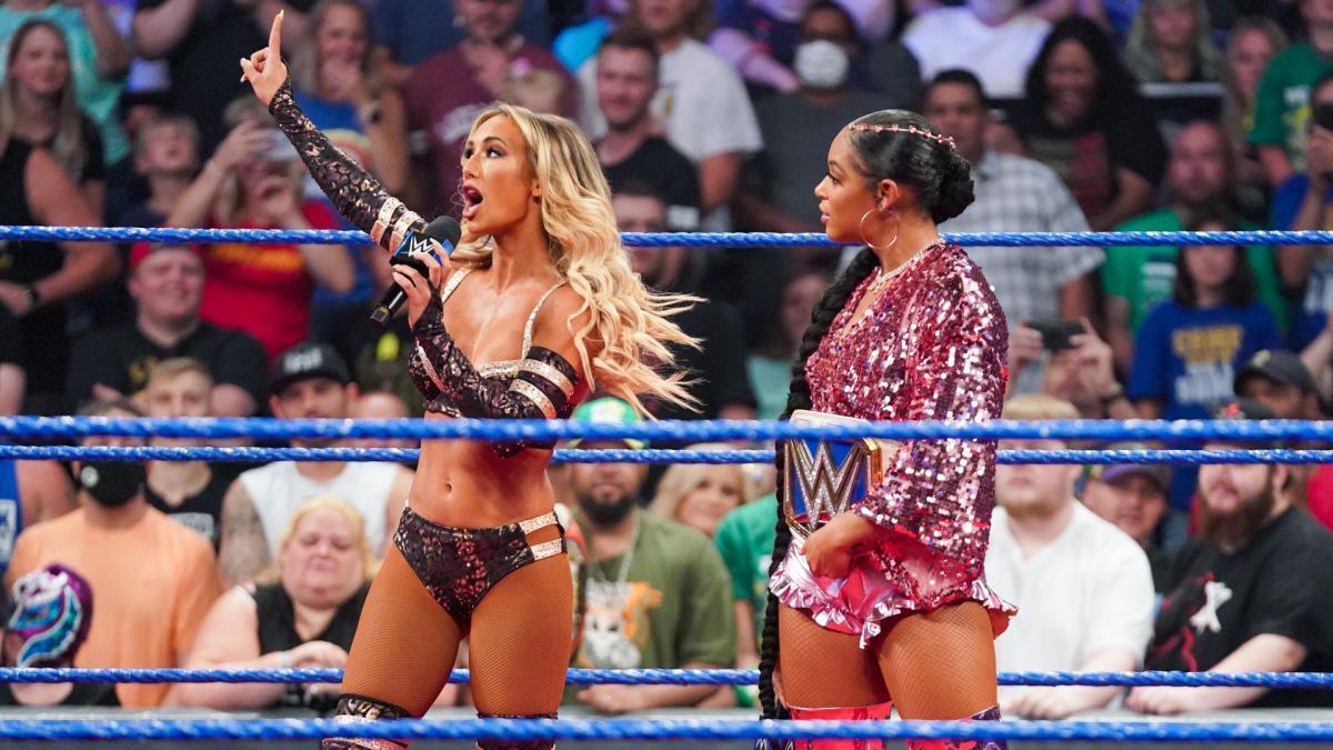 WWE Women 🌞, Carmella and Bianca Belair: Friday Night Smackdown ...