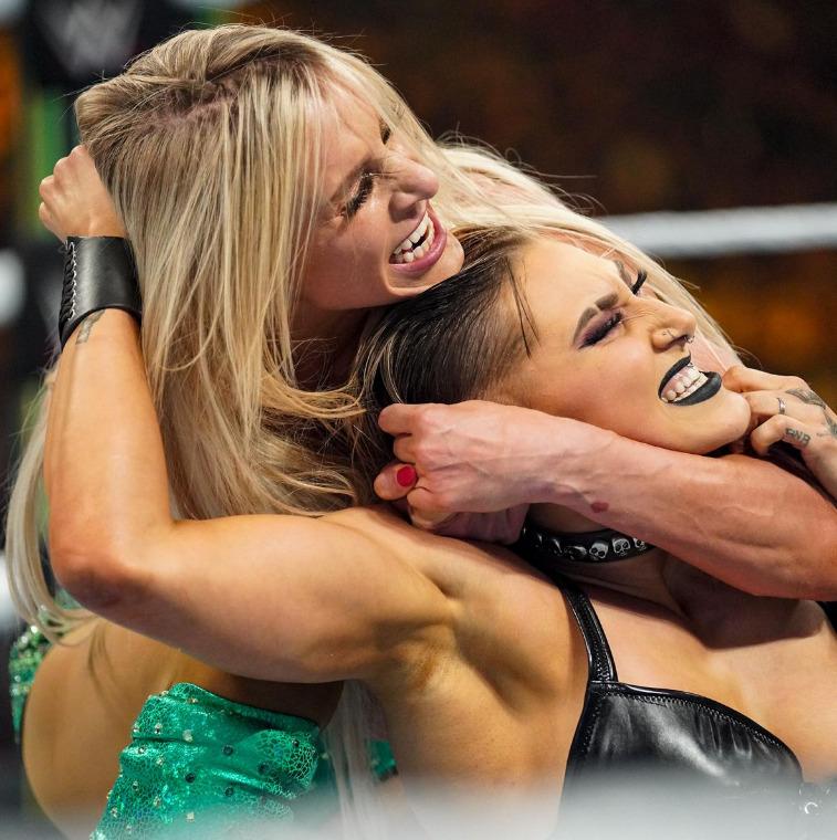 Rhea Ripley vs. Charlotte Flair - Raw Women's ChampionshipWWE money in the bank ...