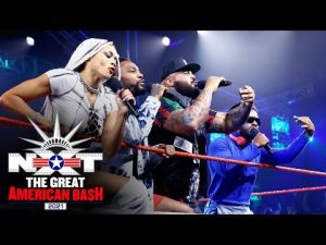 Hit Row's NXT North American Title Cypher CelebrationNXT Great American Bash: July 6, 2021