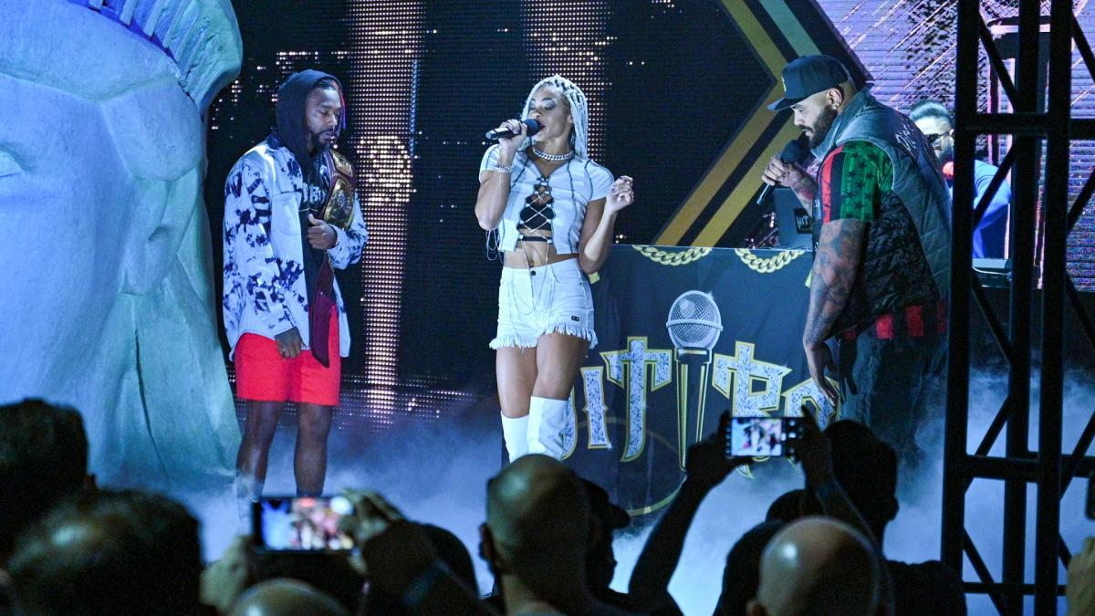 Hit Row's NXT North American Title Cypher CelebrationNXT Great American Bash: July 6, 2021 -...