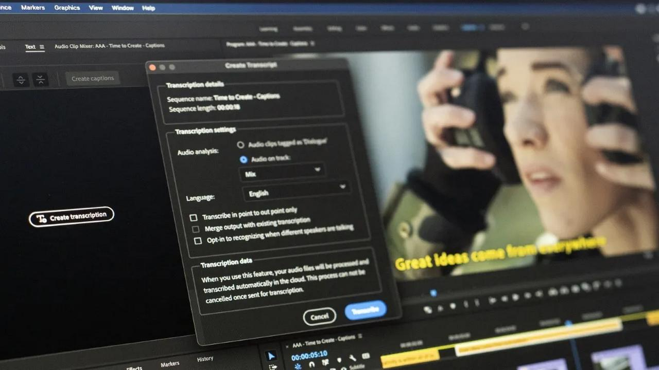 Adobe Creative Cloud update brings speech to text in Premiere Pro, supports M1-based Macs and more - Technology News, Firstpost