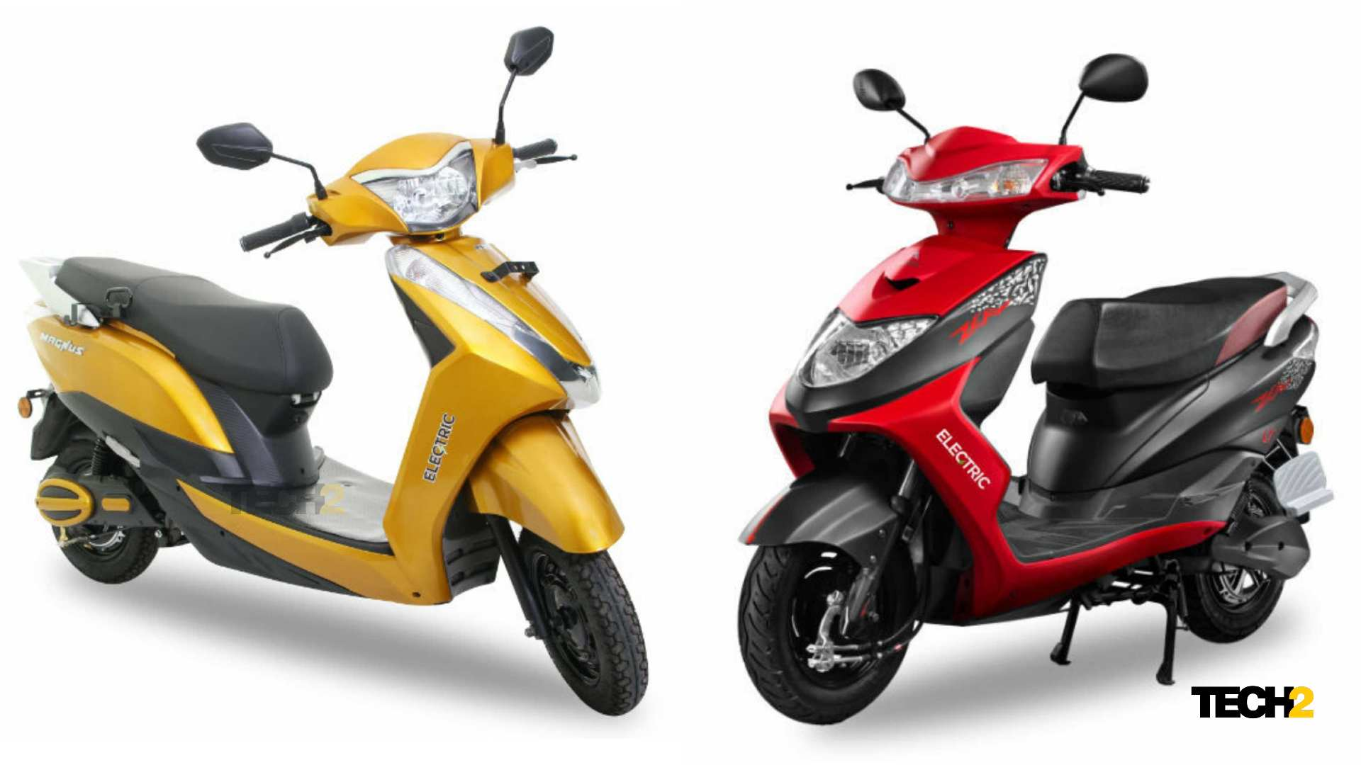 Both Ampere Magnus (left) and Zeal both pay less than 50,000 rubles in Maharashtra thanks to EV policy.  Photo: Tech2