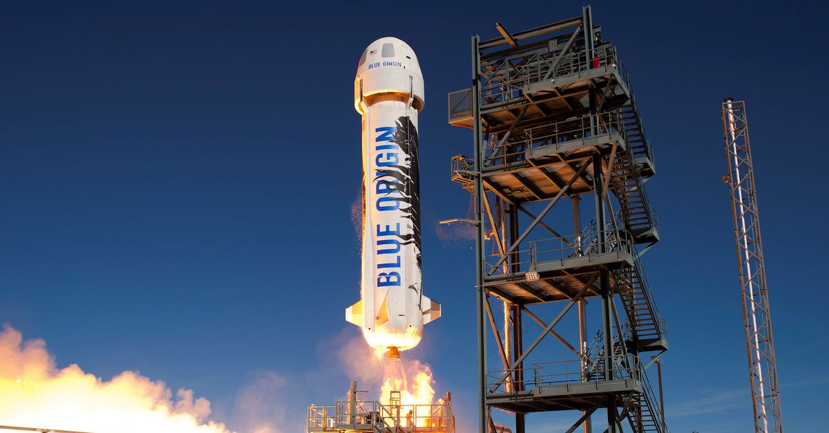 See how Jeff Bezos is released into space