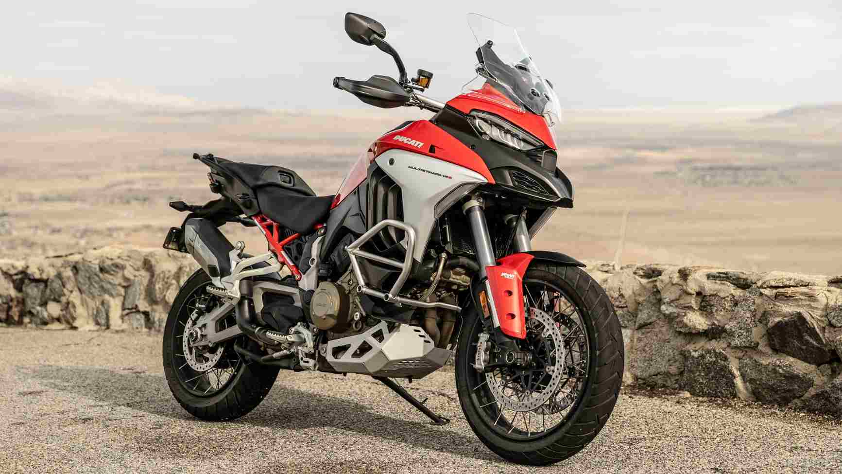 The Ducati Multistrada V4 is the first motorcycle to feature a front and rear radar driver assistance system.  Photo: Ducati