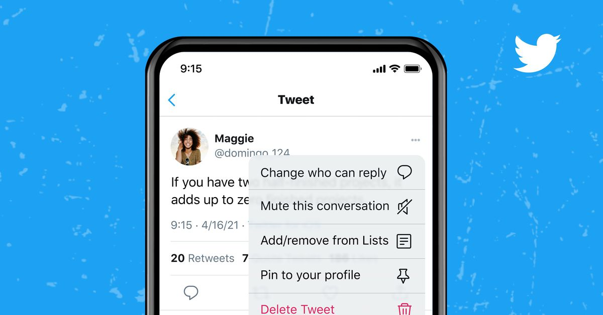 Twitter lets you change who can reply to a tweet after posting
