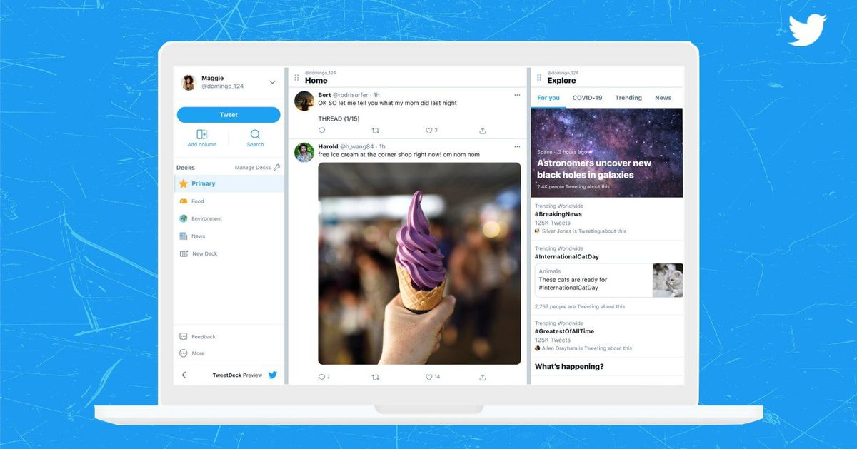 The Tweetdeck preview shows a new and improved application for Twitter