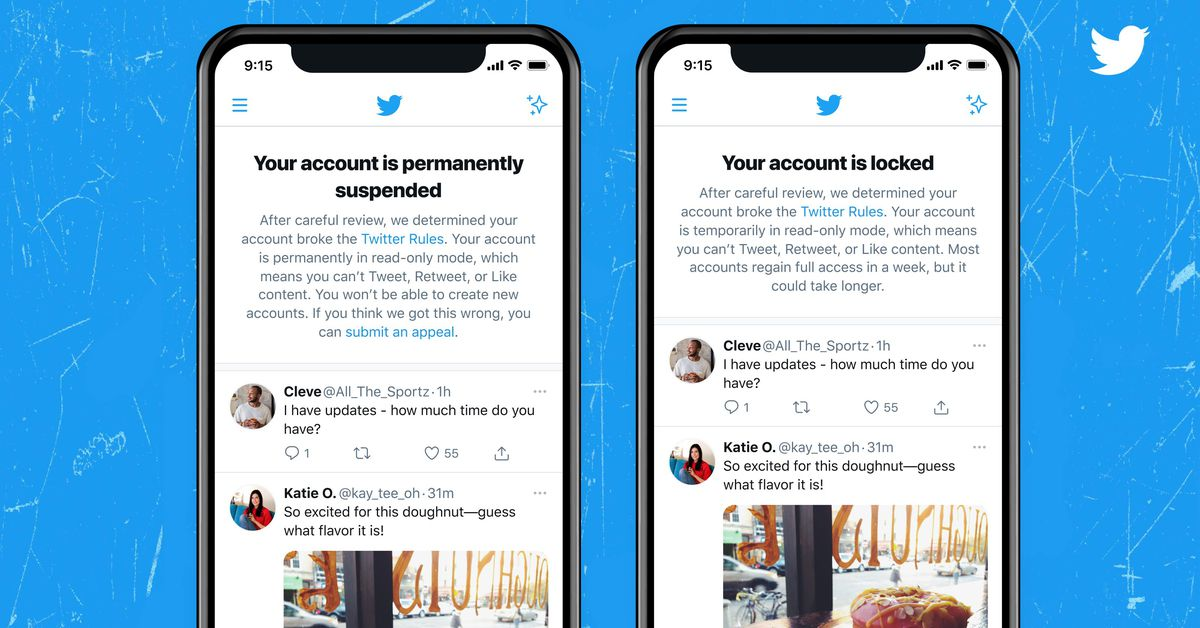 Twitter is testing notifications that tell you if your account is suspended or locked