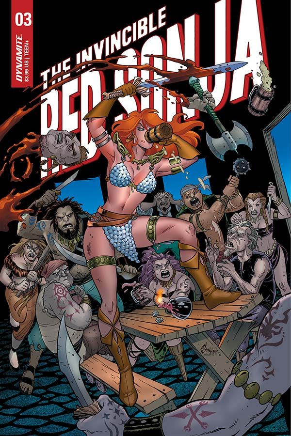 Cartoon Preview - Invincible Red Sonja # 3