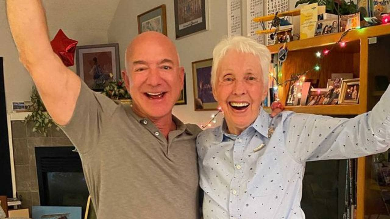 Jeff Bezos announced that 82-year-old female director Wally Funk will launch into space with her- Technology News, Firstpost