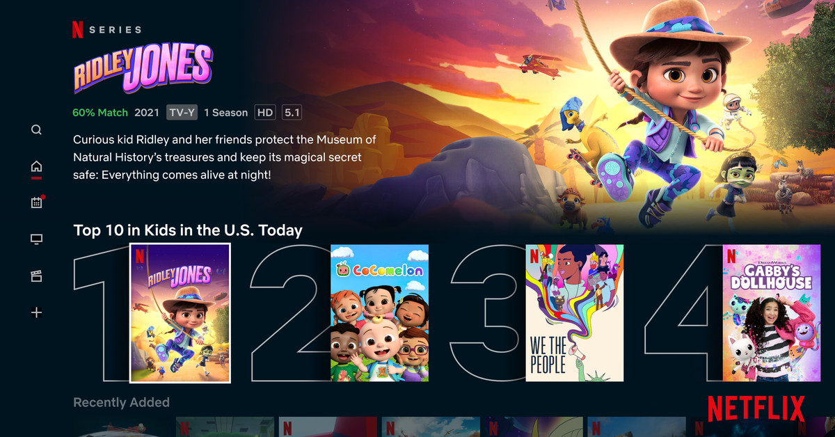 Netflix Kids' new Top 10 line makes it easy to find content
