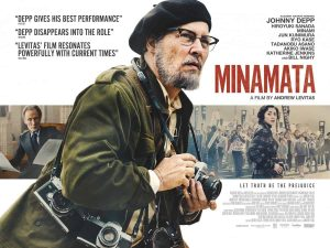 A British poster and trailer for Minamata starring Johnny Depp