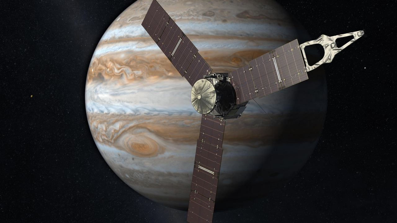 NASA animation video gives viewers Juno about POV flying over Jupiter, Ganymede-Technology News, Firstpost