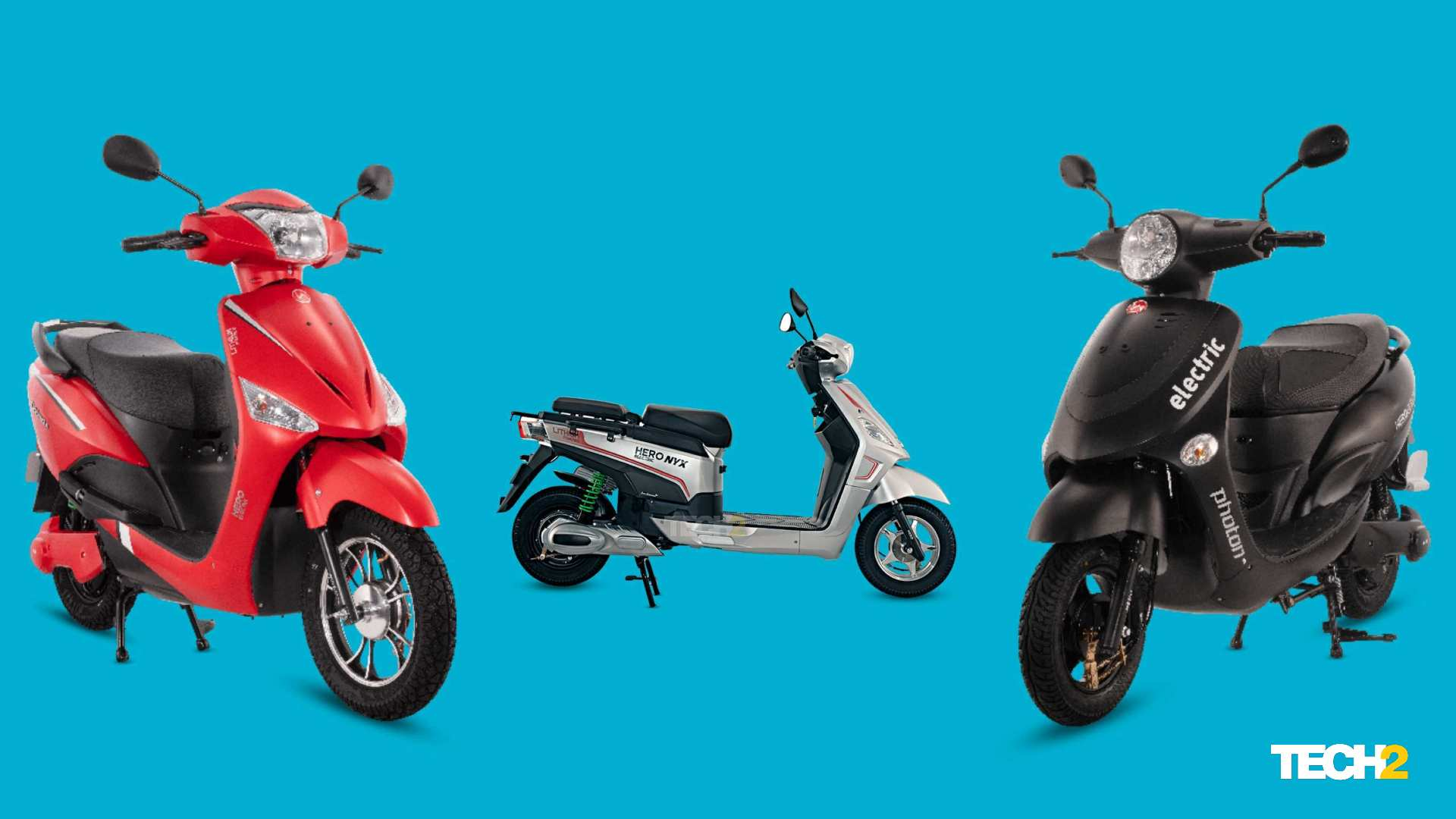 The prices of Hero Electric's medium-speed scooter ranges have fallen sharply since the introduction of state subsidies.  Photo: Tech2 / Amaan Ahmed