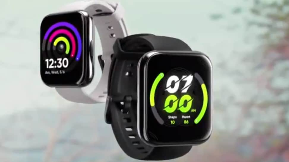 The Realme Watch 2 Pro has a large, 1.75-inch rectangular full touch screen.  Photo: Realme