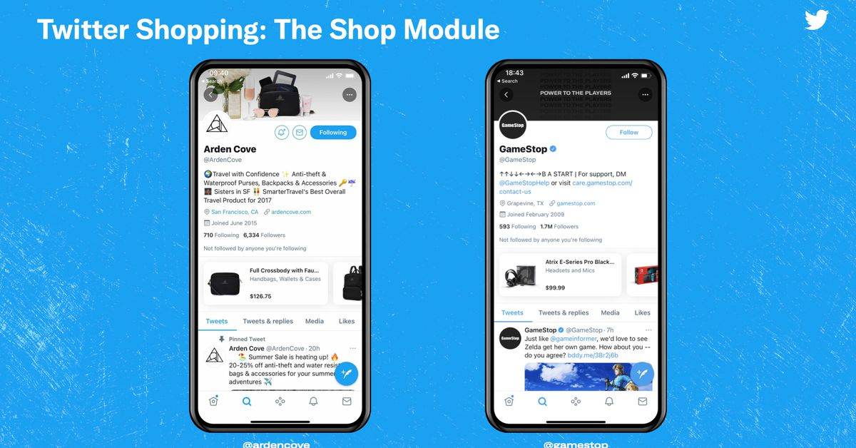 Twitter is directing a new brand shopping section
