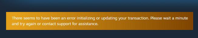 Typical Steam Deck subscription error.
