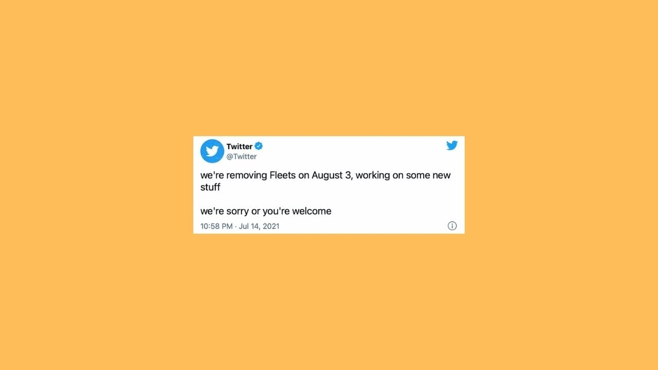 Twitter eliminates fleets like Instagram stories on August 3 as it works on new things - Technology News, Firstpost