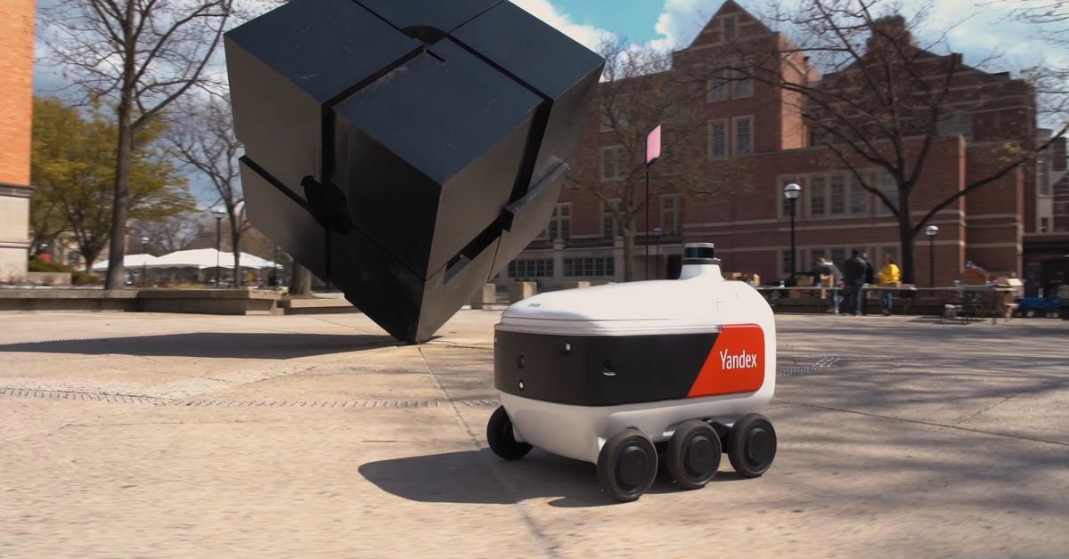 Grubhub uses robots made in Russia to deliver food to university campuses