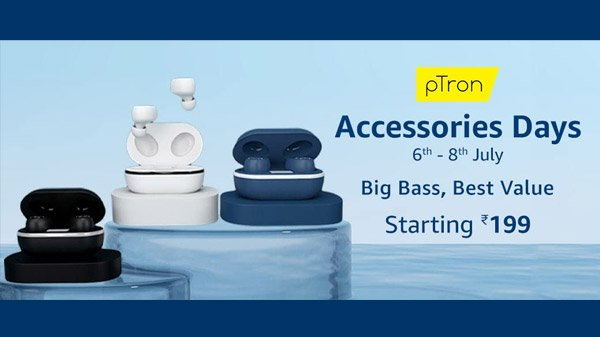 Amazon pTron Accessory Day Sale: Offer on headphones, genuine wireless headphones and more