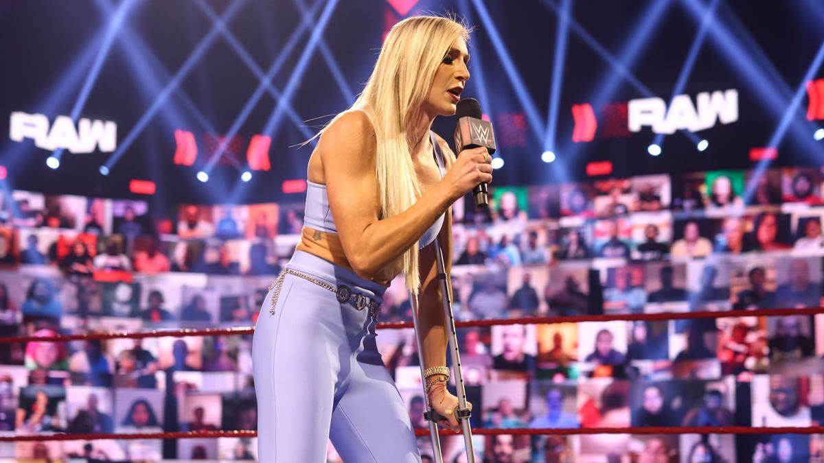 Rhea Ripley Rises 'Injured' During Charlotte Flair's Medical UpdateRaw: July 5, 2021