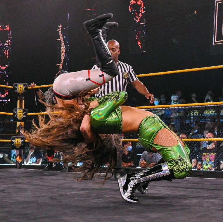 Kacy Catanzaro & amp;  Kayden Carter vs. Aliyah & amp;  Jessi KameaWWE NXT: July 13, 2021 - Digital