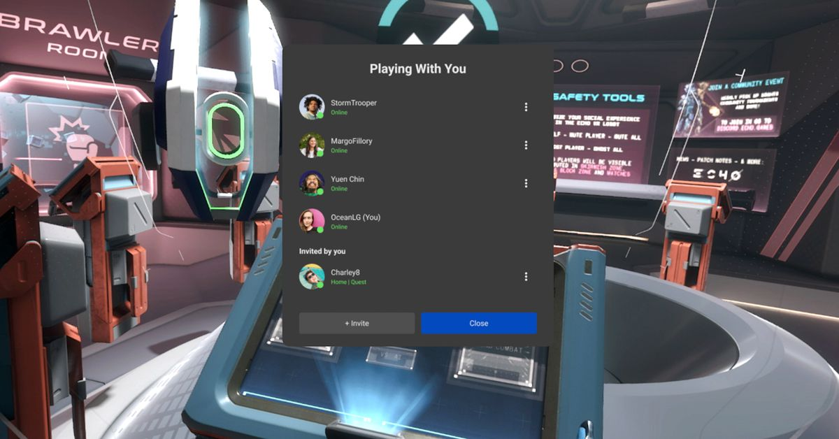 With the latest Oculus Quest update, you can easily invite others to play