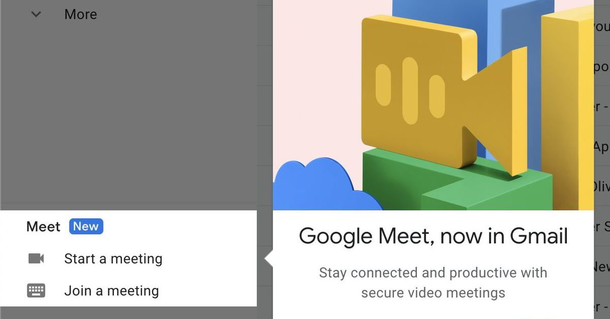 How to hide Google Meet in Gmail