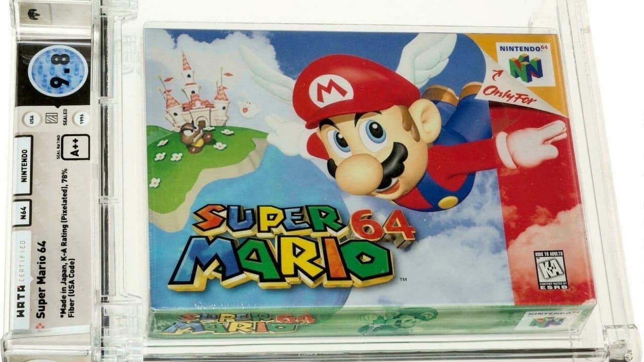 Super Mario 64 cartridge to be auctioned off for $ 1.56 million, a world record for the most expensive game ever - Technology News, Firstpost