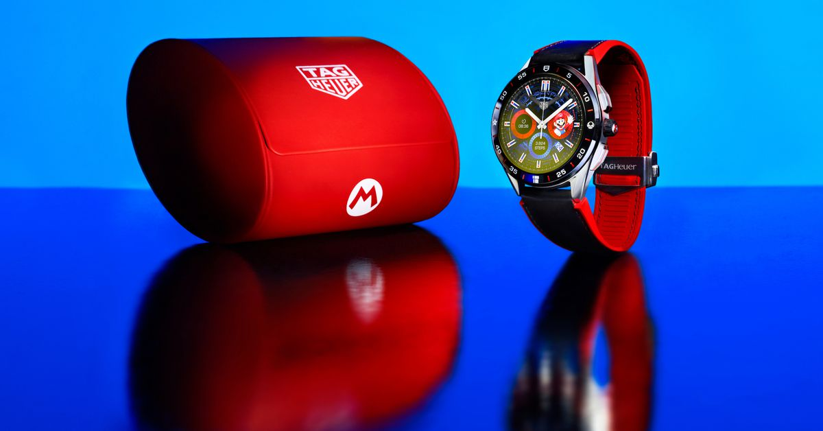 The Super Mario and Tag Heuer collaboration is a $ 2,150 Wear OS watch