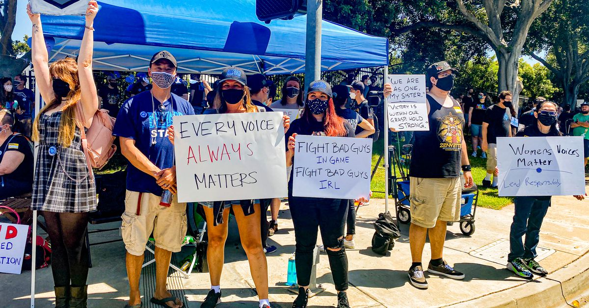 Activision Blizzard employees leave work to protest violent sexism and discrimination