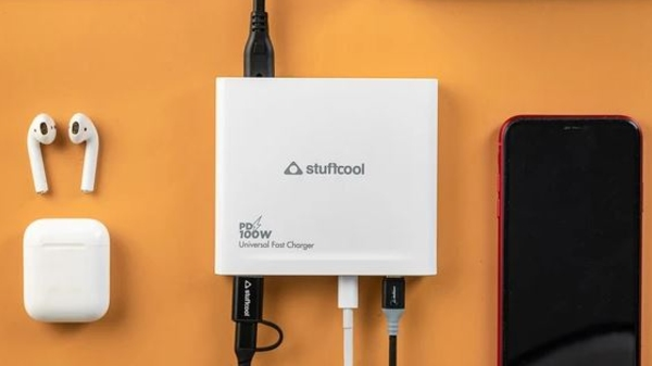 This one Power Brick can charge four devices at once