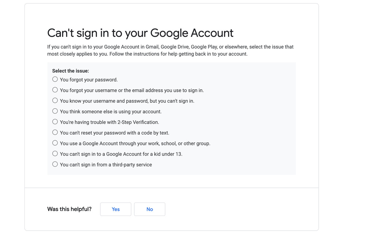 Tracking one of these issues can help you recover your account.