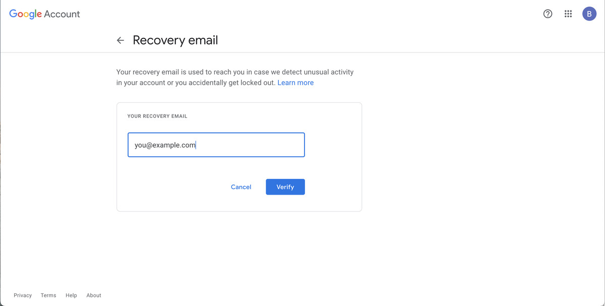 You can add a verified recovery email to restore your account.