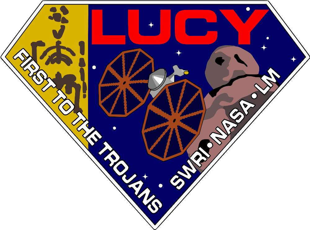 The official patch for the Lucy mission.  Photo: NASA