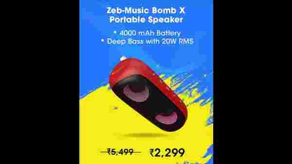 ZEBRONICS Zeb-Music Bomb X Wireless 20W Portable Speaker