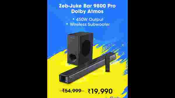 ZEBRONICS Zeb-Juke Bar 9800DWS Pro Dolby Atmos Soundbar Home Theater