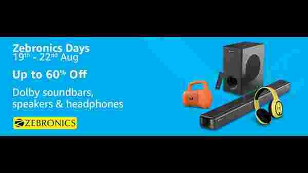 Amazon Zebronics days discount