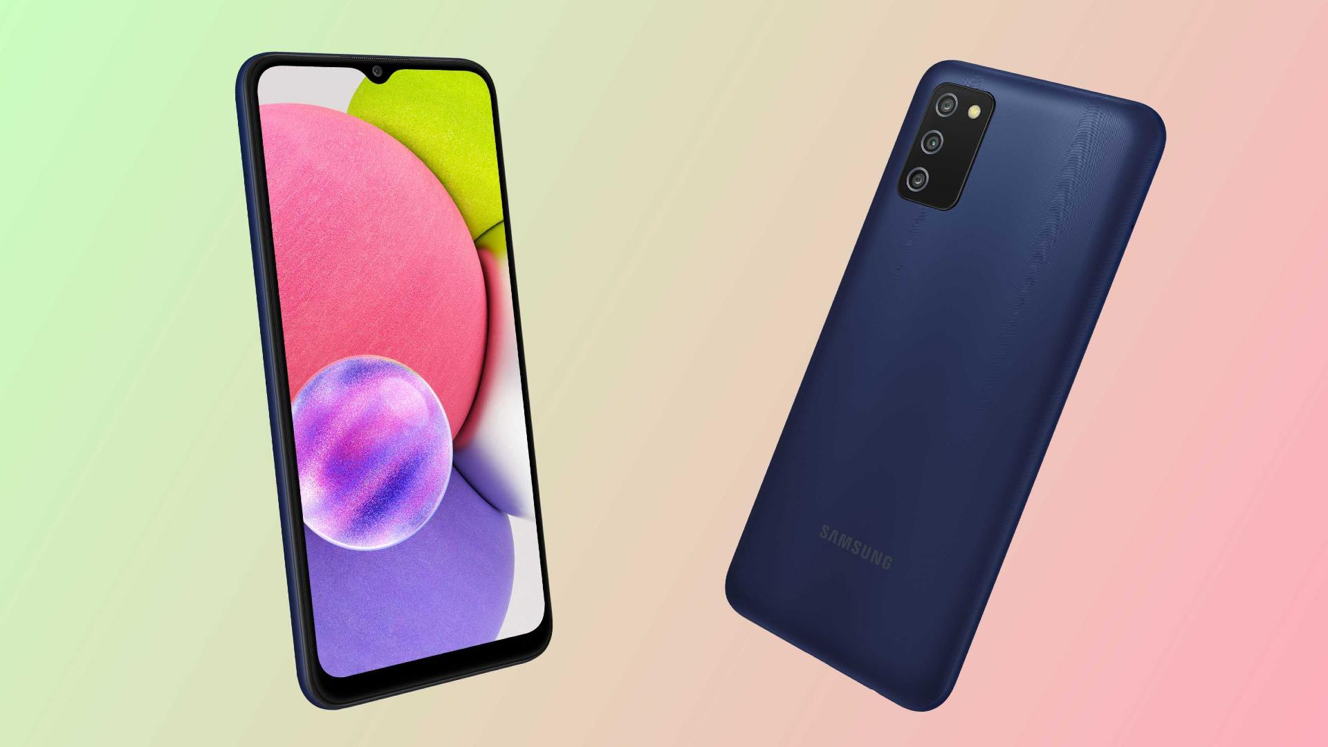 The Samsung Galaxy A03s is available in two storage options.  Photo: Samsung / Tech2