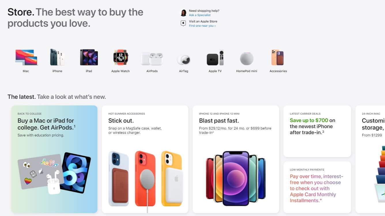 The type of card means that the Apple Store is pretty smooth when used with a smartphone.  Photo: Apple
