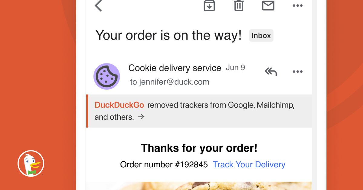 How to use the DuckDuckGon email security application