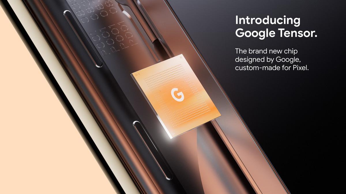 Google's promo image for the Tensor SoC