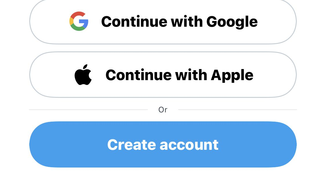 Twitter will increase third-party registration with Apple or Google