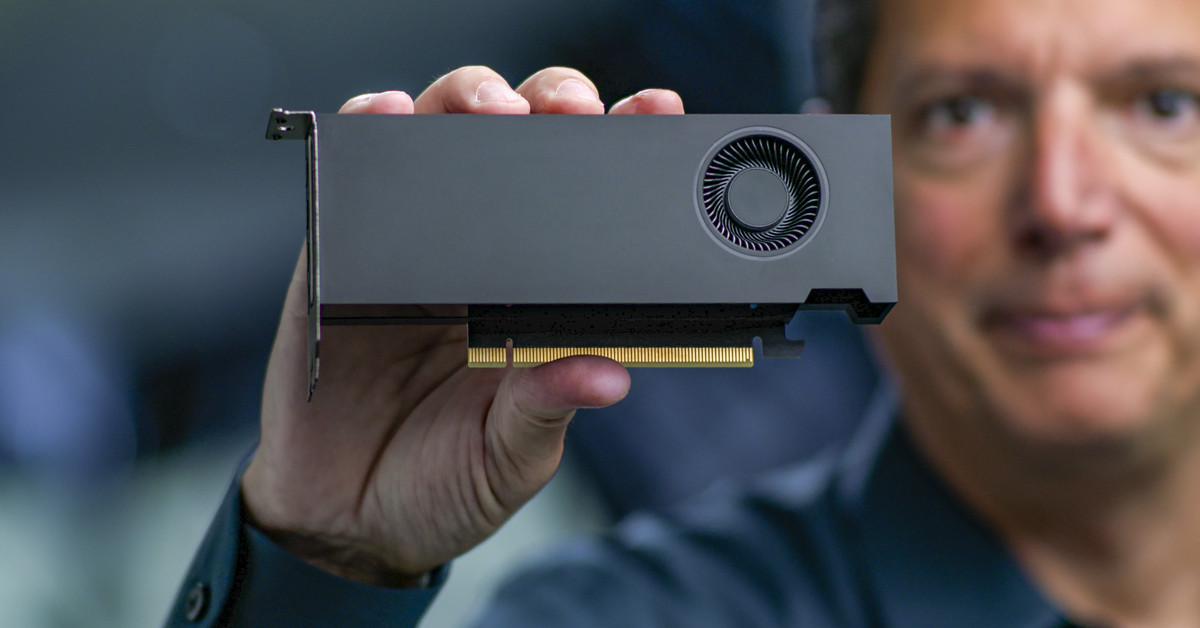 Nvidia's small RTX A2000 graphics card fits in a small computer