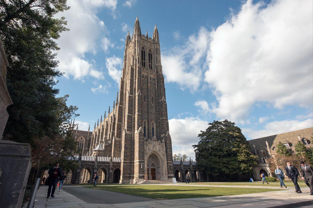On the campus of Duke University