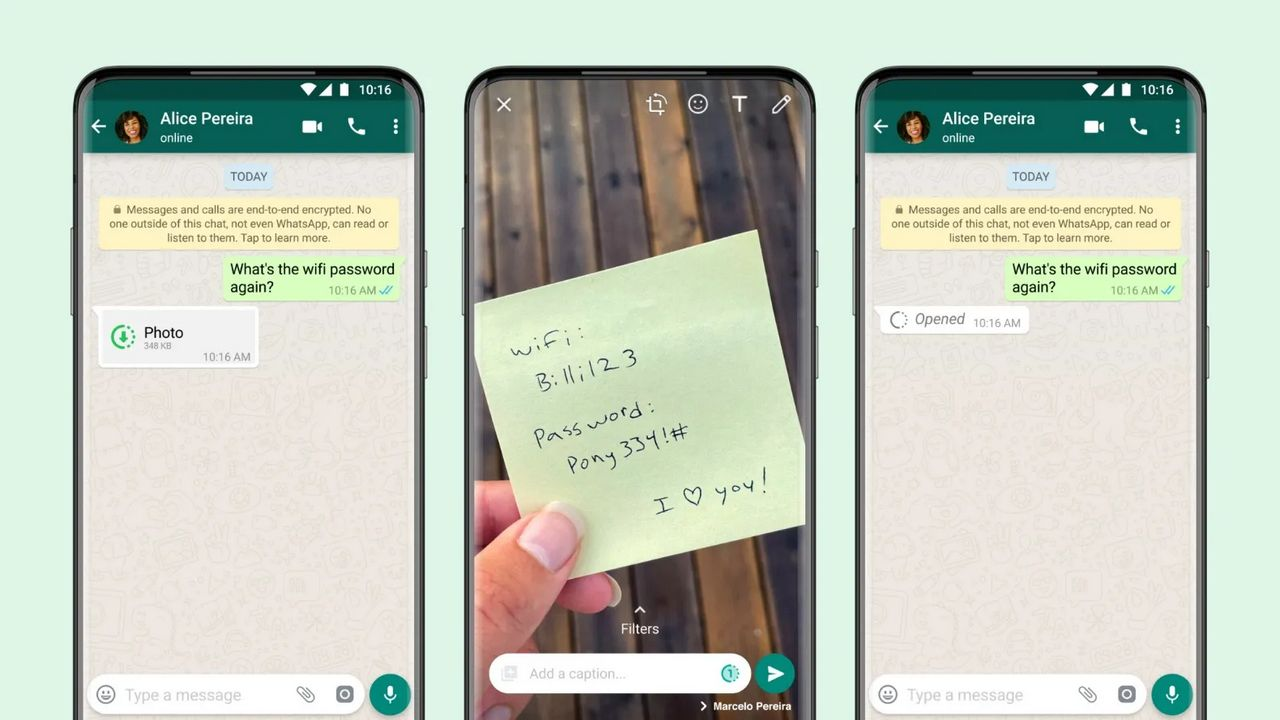 WhatsApp Introduces View One Feature That Deletes Photos or Videos Immediately After Opening Them - Technology News, Firstpost